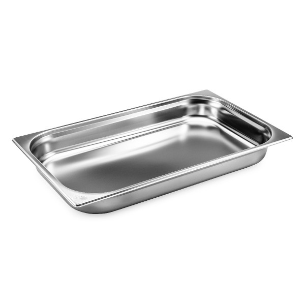 GN 1/1 container without handles, stainless steel
