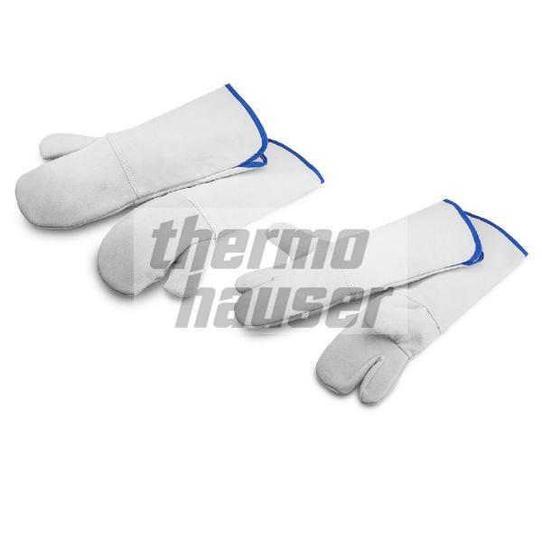 Oven gloves, leather, extremely heat resistant