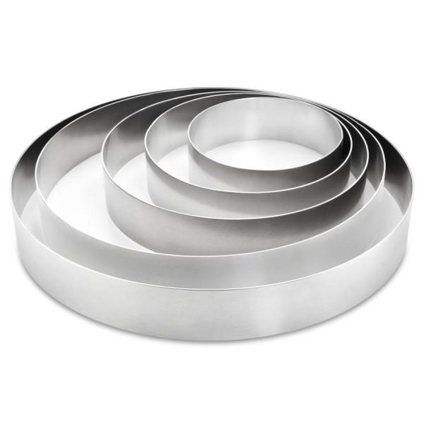Tortenringe im SET, Aluminium