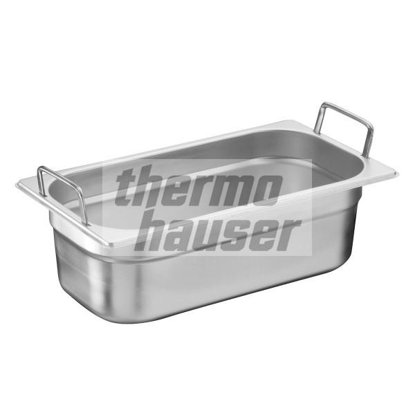GN 1/3 container with foldable handles, stainless steel
