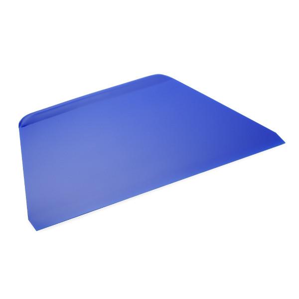 Teigschaber / Teigabstecher, BLAU, Kunststoff