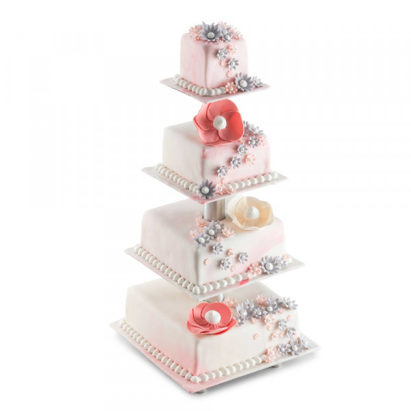 Tiered cake stand / wedding cake stand, square