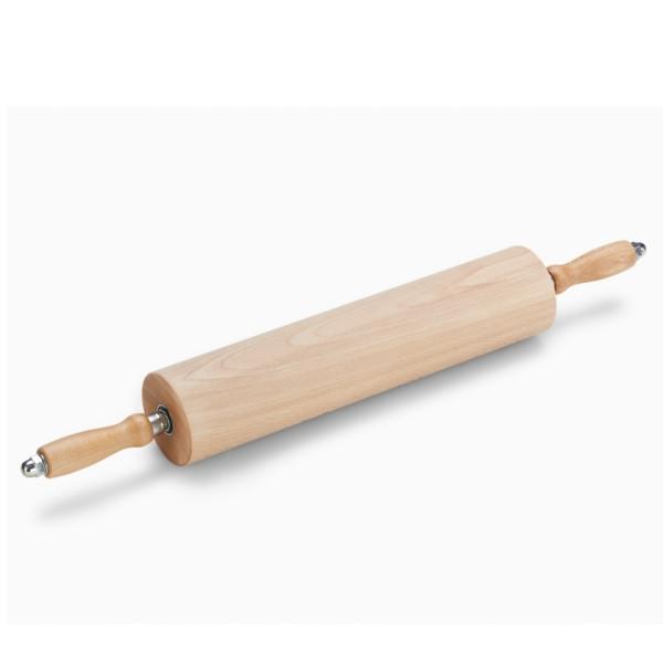 Rollwalze / Wellholz, Holz, mit Griffen