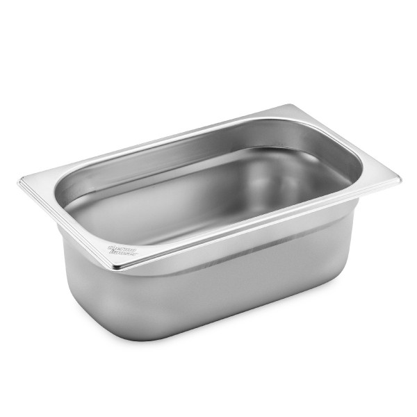 GN 1/4 container without handles, stainless steel